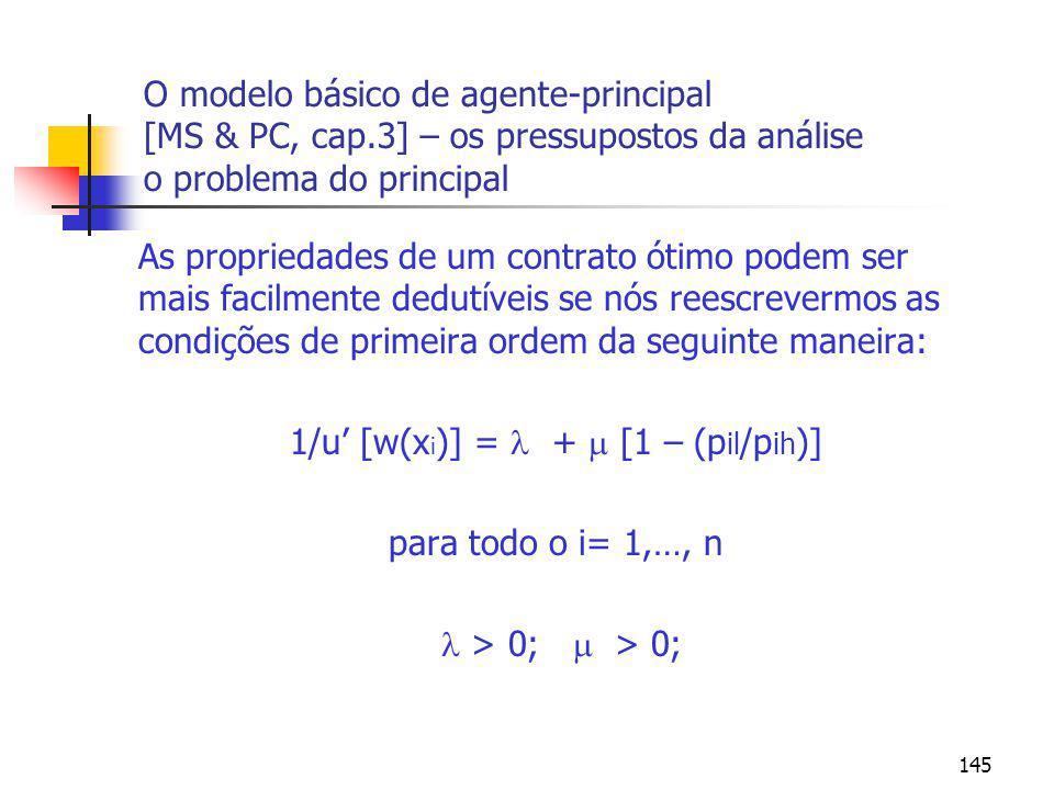 1/u' [w(xi)] =  +  [1 – (pil/pih)]